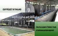 waste tyre refinery processing machine scrap tyre processing pyrolysis machine waste tire recycling plant
