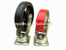 High Capacity Hard Rubber Fixed Iiron Caster Wheel