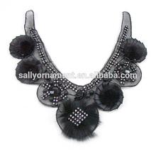 Rhinestone clothing accessory collar