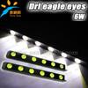 DIY drl eagel eyes led bar 7000K 500-Lumen LED DRL Waterproof Eagle Eye LED Day Time Running/Brake Lamps / Lights (DC 12V)