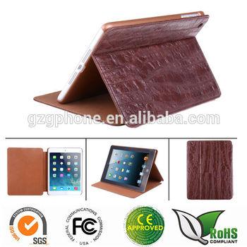 Factory price PU material stand flip leather case for ipad mini/ ipad retina