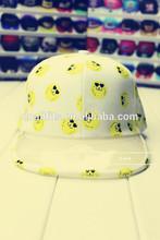 2014 newest korea fashion cap with see-through pvc flat brim snapback cap