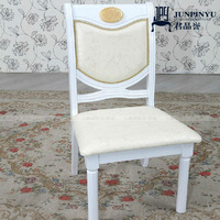 Y004 Factory Direct White Wooden Antique Chair
