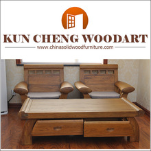 New luxury style China classical solid wood sofa set/Solid wood chair/Wooden sofa