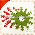 Fieltro hechos a mano decoración del árbol de navidad ornamento