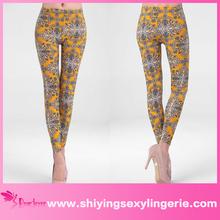 Vintage Floral Print sexy leggings girls pics