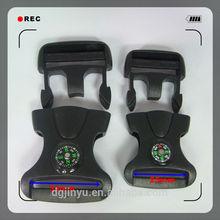 black webbing strap plastic buckle/press buckle/compass side release buckle for bag