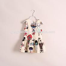 Summer Girl Cute Cat Pattern Dress
