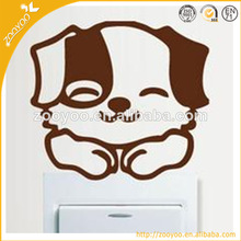 zooyoo 3D decorative wall sticker switch wall decal home decor vinyl self adhesive smile dog