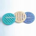 forma redonda de plástico resistente al calor mantel
