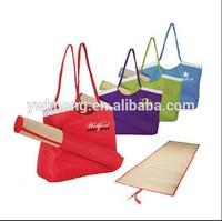 beach bag with straw mattress