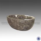 China Coffee Marble Free Standing Bath Tub
