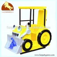 Fashion Bulldozer coin operated kids ride machine