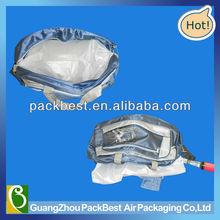 innovative plastic air cushion bag/ handbag cushion inserted /air cushion filling for handbag