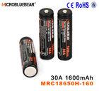 IMR 18650 30A 3.7V 1600mAh bling electronic cigarette batteries wholesaler