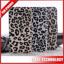 Most popular girl design leopard leather case for iphone5 leopard leather case