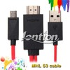 Wholesale mhl cable 11pin for galaxy s3 tv out cable