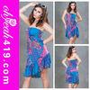 Hot sale ladies thailand batik fashion dress with pictures