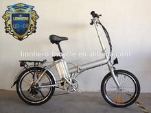 Hot sale Lionhero aluminum electric folding bike li-po battery electric bicycle