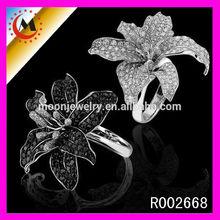 HOT SILVER FLOWER DIAMOND 2014 FINGER RING MOLD