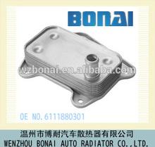 Aluminium refroidisseur d'huile moteur pour utilisé Mercedes benz, Oe no. : 611 188 0301