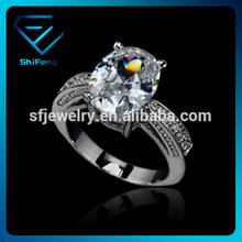 18K Real Gold Plated Fashionable AAA Top Quality Zircon Big Diamond Wedding Ring