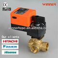 Manera 3 dn15~dn50 control de bola de la válvula de control de flujo de agua con asas