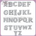 alfabeto liga palavrão cristal az origami coruja flutuante para letras de medalhões de vidro