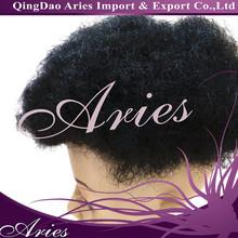 Jet Black Men's Wig Toupee for black men