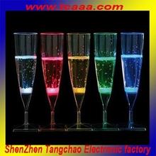 hot selling plastic light champagne glasses