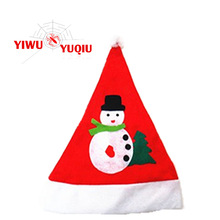 Funny Non-woven christmas hat Cap with snow man