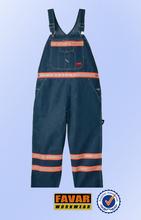 2014 fashion design 100% cotton bib & brace heavy weight FR denim which can stand 100 times wash