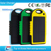 solar mobile power bank 5000mah waterproof solar charger