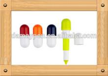 Promotional Stretchable Pill Pen Capsule shape ball pen