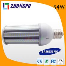 e40 55w led corn lights 54w e27 e40 360degree 5400lm 243mm Length 144led Outdoor IP65 (Equal 324w Halogen bulb)