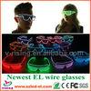 The most popular Ray-ban/Wayfarer style fashion el wire glasses