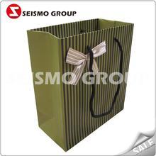 matt laminated black bag paper fancy shopping paper bag