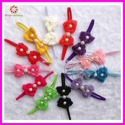 Babys Headbands Girl's Infant Hair Bow Lace Flower Cute Headband