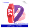 2014 LED barato reloj de pulsera led watch movement