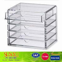 5 Drawers High Transparent Custom Acrylic Display Case China Factory