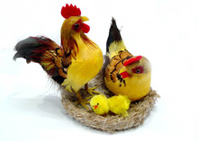 cute handmade artificial cheap cute wholesale chicken arts easter chicken decoration
