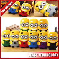 """For iPhone 5"""" fashion 3D silicone case minions silicone rubber case for iphone 5"""