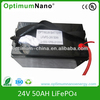 deep cycle high performance 32650 cell lifepo4 battery pack 24v 50ah for Back up power UPS