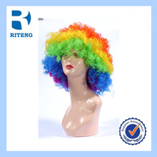 2014 world up football sports fans wig/factory directly supply soccer sports fan wigs&hairpiece