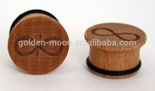 Plugs OOG Organic Crocodile Wood Infinity Symbol Plug, Single Flare Plug