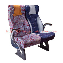 Luxury auto bus seat with fabric
