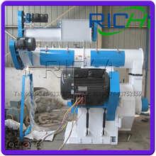 Animal Feed Pelletizer Machine / CE Certification Stainless Steel Ring Die Pellet Press Granulator