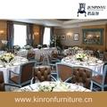 couro antigo cadeira e mesa redonda utilizado mobília do restaurante do hotel a área roma formal sala de jantar conjuntos