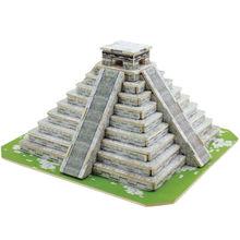 Educational 3D puzzle of Mayan Pyramids