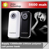 5600mAh Power Bank Celular Pack Portable Super Slim External Battery Backup Charger For Mobile Phone